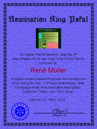 King Award Nominationsurkunde Affegeil.net