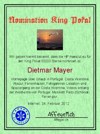 King Award Nominationsurkunde Marazul