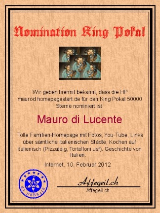 King Award Nominationsurkunde Maurod