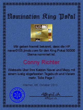 King Award Nominationsurkunde Navar 0105