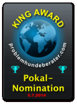 King Award Nominationsschild Problemhunde-Berater